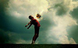 2 (Футбол, мяч, фантастика, огонь)