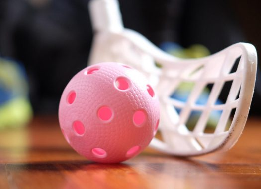 floorball ball and stick