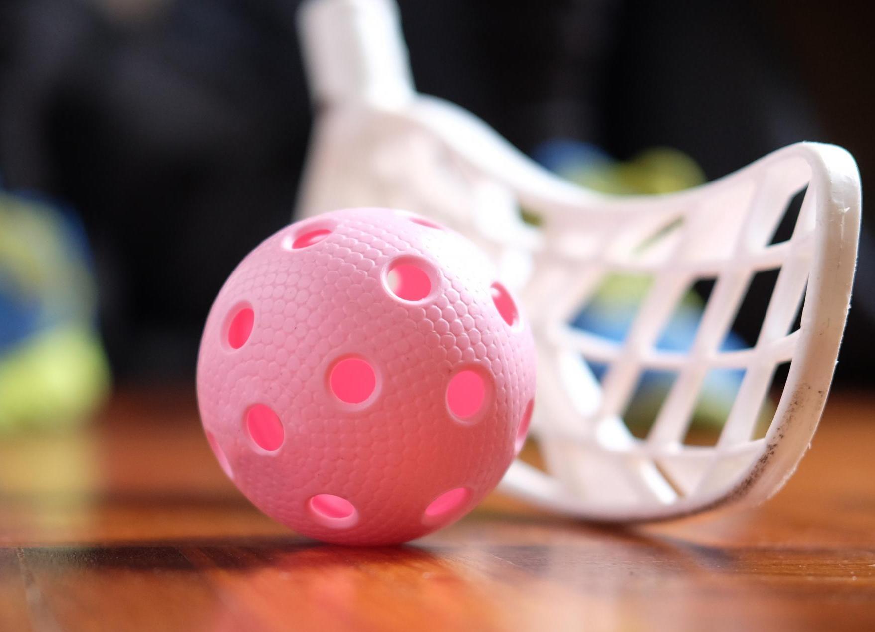 floorball ball and stick
