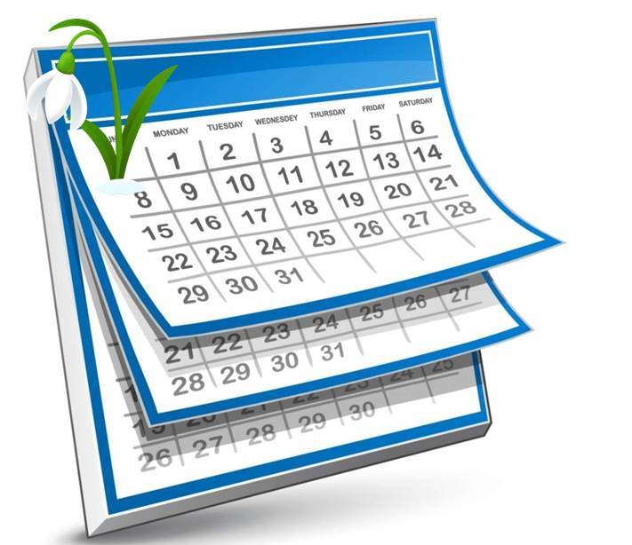 Весна календарь